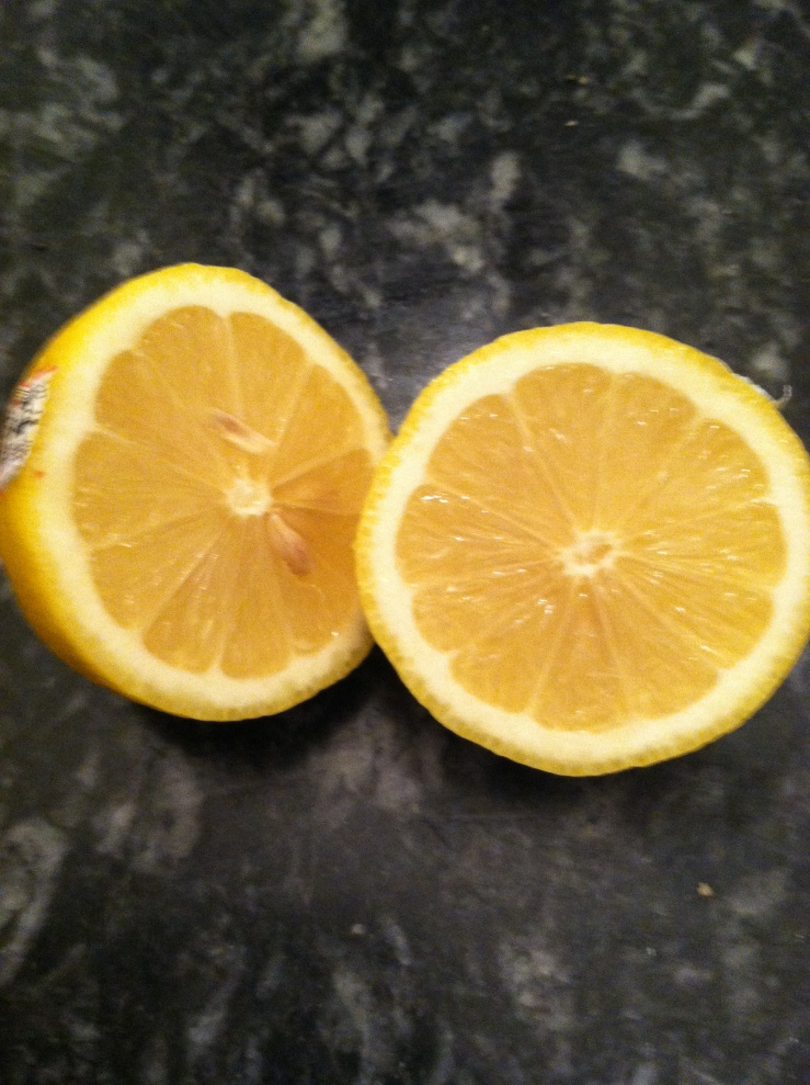 Fresh lemons in the morning...so rejuvenating.