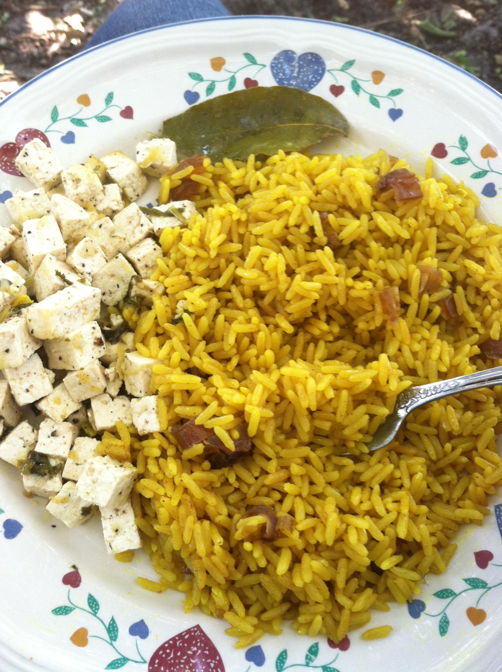 Yellow Jasmine Rice w/ Scandinavian Tofu Salmon – Ria Lives Well