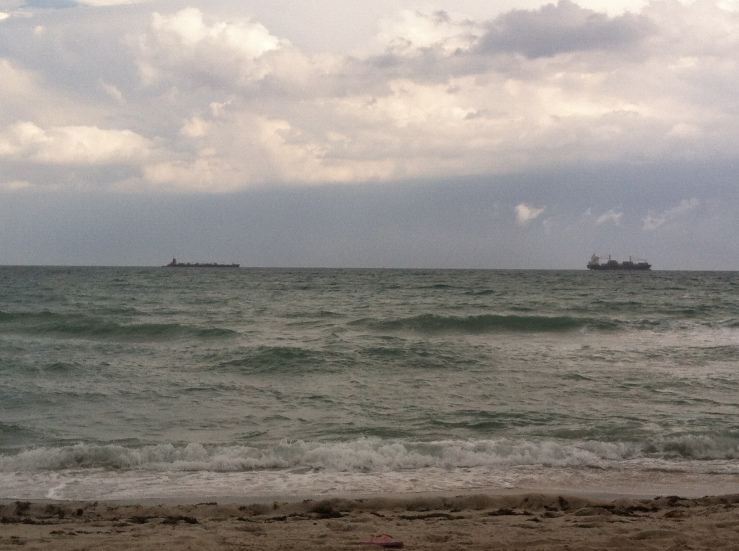 South Florida Beach: Still beautiful, even on a rainy day.