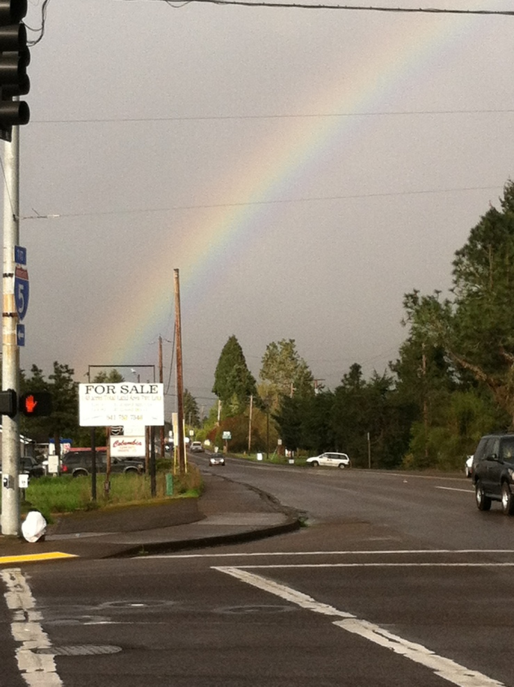A colorful outcome to a rainy morning in Oregon. Kind of made three hours walking around in the rain worth it. Kind of.