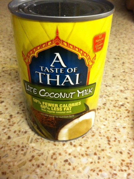 You don't have to buy light coconut milk--it's porbably best to buy FULL FAT