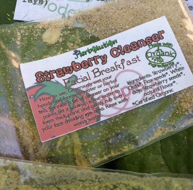 Organic Strawberry Face Scrub