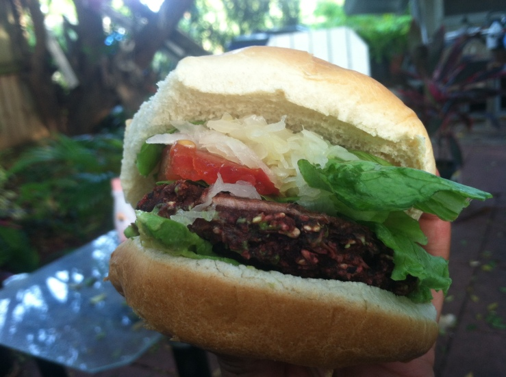 Easy Beet & Bean Vegan Burger